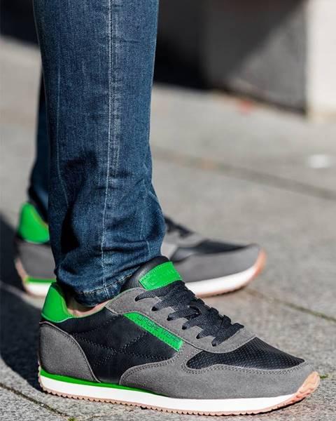Sivé topánky Ombre Clothing