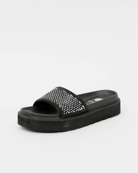 Čierne papuče Replay