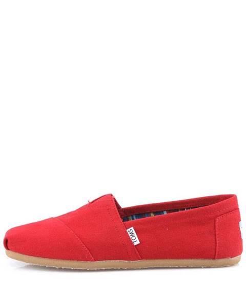 Červené topánky TOMS