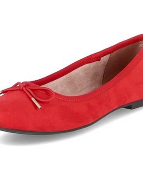 Červené balerínky Tamaris