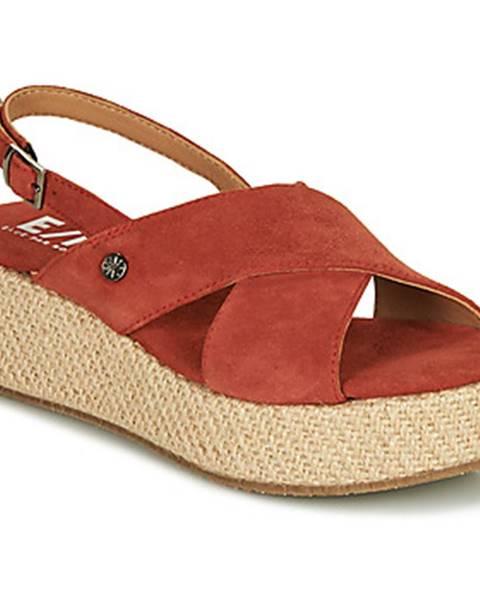 Červené sandále Elue par nous