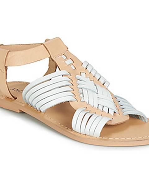 Biele sandále André