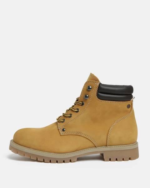 Horčicové topánky Jack & Jones