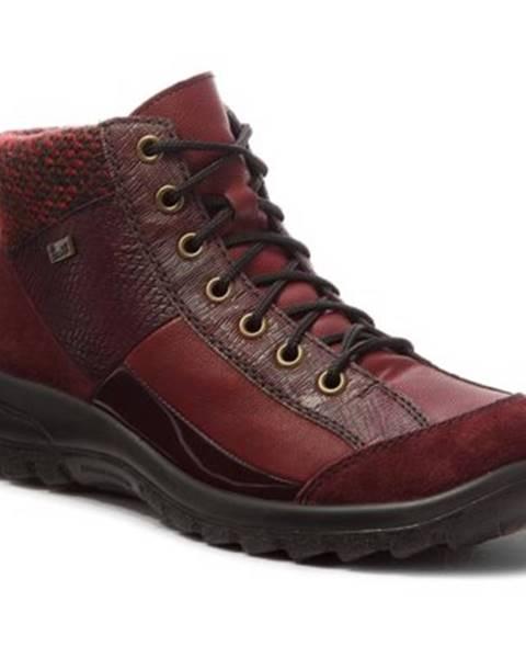 Bordové topánky Rieker