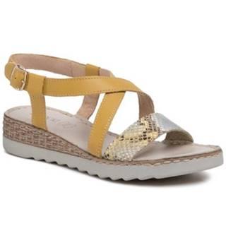 Sandále Lasocki P193 Prírodná koža(useň) - Zamš
