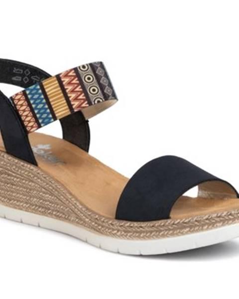 Tmavomodré sandále Rieker