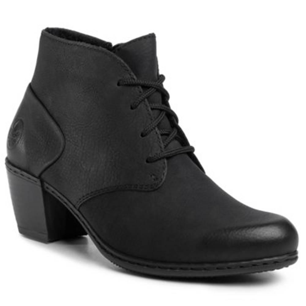 Rieker Šnurovacia obuv Rieker Y2132-00 Ekologická koža/-Ekologická koža