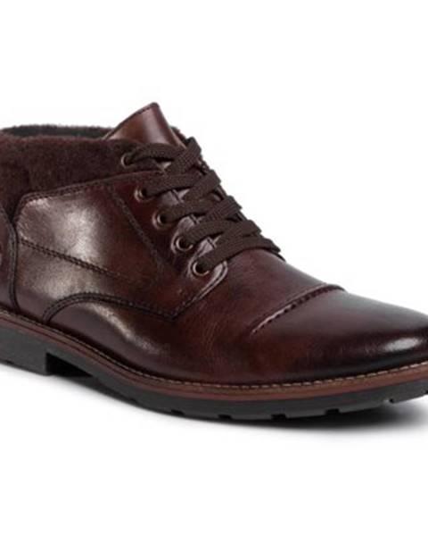 Tmavohnedé topánky Rieker