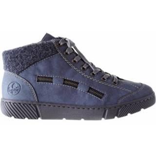Šnurovacia obuv Rieker 52943-14 Prírodná koža(useň) - Lícova