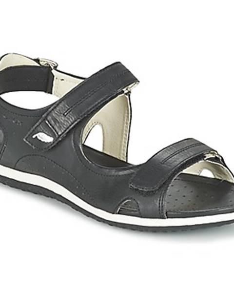 Čierne športové sandále Geox