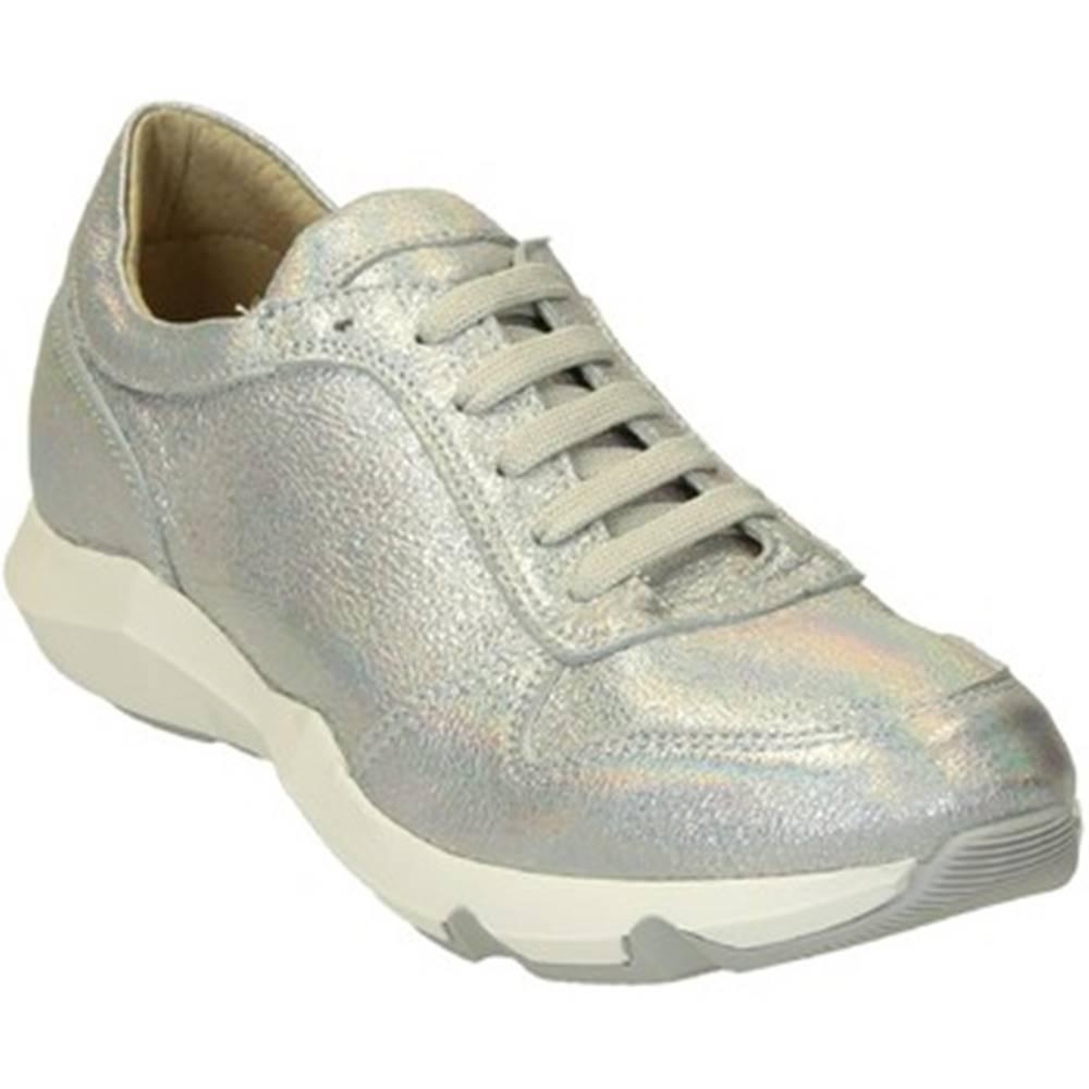 Leonardo Shoes Nízke tenisky Leonardo Shoes  ER01 PELLE GLITTER ARGENT