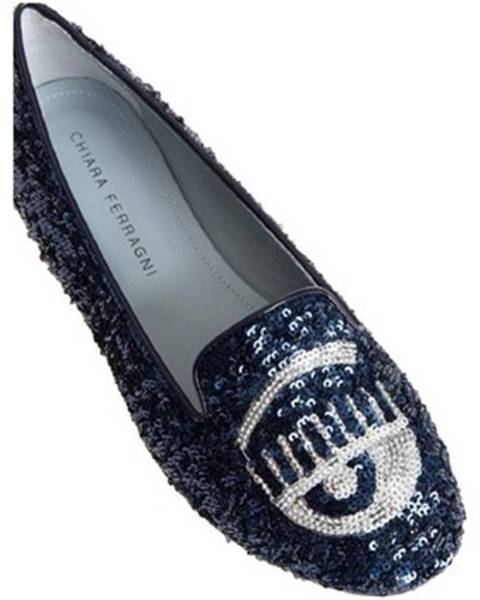 Modré topánky Chiara Ferragni
