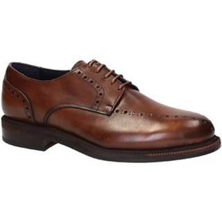 Derbie Leonardo Shoes  851GO PE VITELLO MARRONE