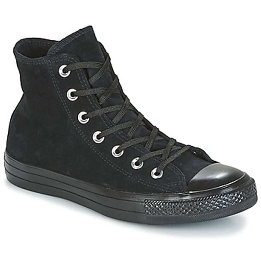 Converse Členkové tenisky Converse  CHUCK TAYLOR ALL STAR MONO PLUSH SUEDE HI BLACK/BLACK/BLACK