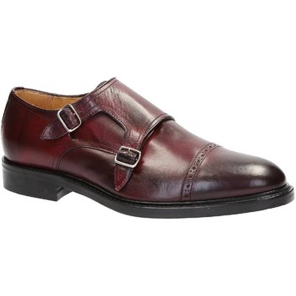 Leonardo Shoes Mokasíny  07169/FORMA 40 FULL BORDO