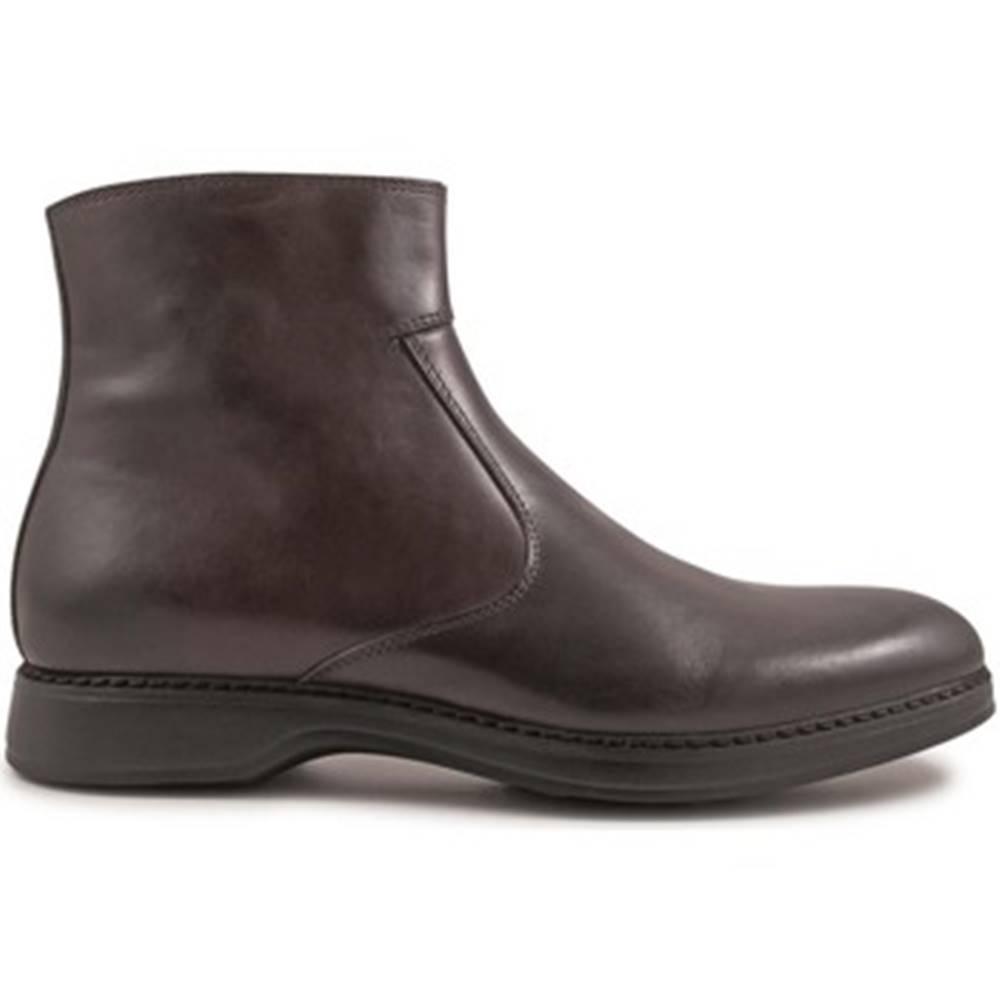 Leonardo Shoes Polokozačky Leonardo Shoes  4846 VITELLO AC CIOCCOLATO I