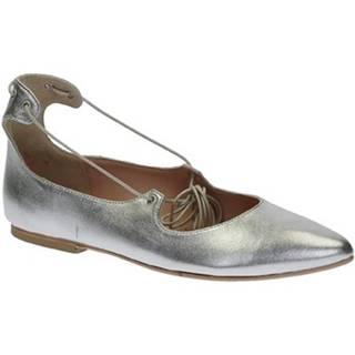 Balerínky/Babies Leonardo Shoes  117-30 CUOIO NAPPA ARGENTO