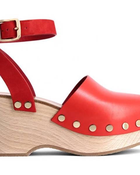 Červené topánky Céline