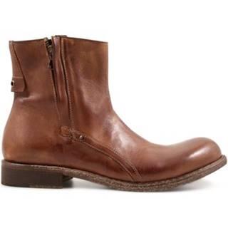 Polokozačky Leonardo Shoes  8402/12 PAPUA WHISKY