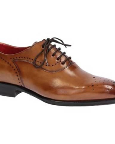 Derbie Leonardo Shoes  06387 VITELLO DELAVE SIENA