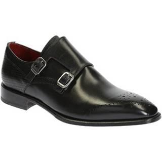 Mokasíny Leonardo Shoes  06896 14221 FORMA SCA MONTECARLO NERO
