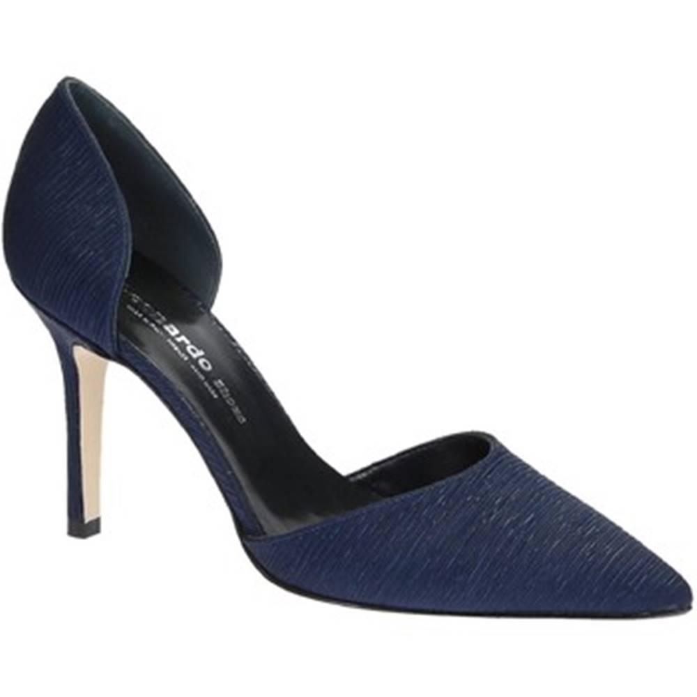 Leonardo Shoes Lodičky Leonardo Shoes  17141 PLISSE BLU T 2960 F DESY
