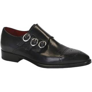 Mokasíny Leonardo Shoes  07157 14221 NERO