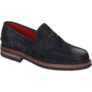 Mokasíny Leonardo Shoes  301-69 PE CAMOSCIO BLU