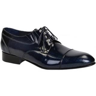 Richelieu Leonardo Shoes  023-17 PE CANAPA BLU