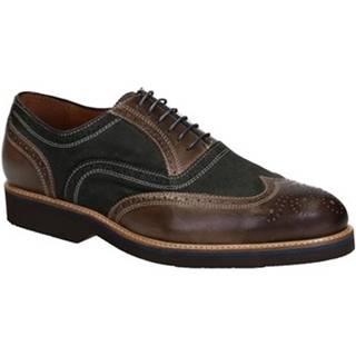 Richelieu Leonardo Shoes  06650/FORMA 40 CANCUN DARK OLIVE