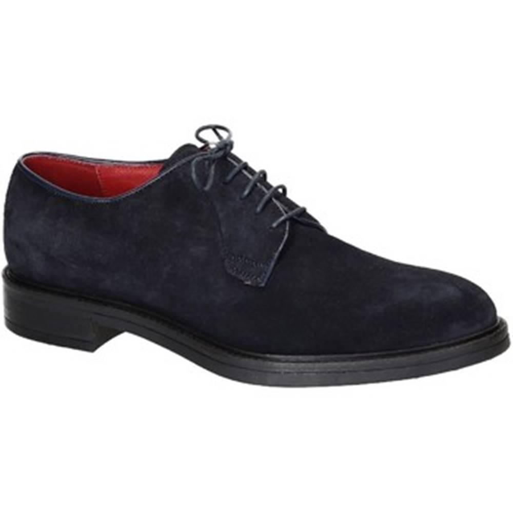 Leonardo Shoes Derbie Leonardo Shoes  1010-1 PE CAMOSCIO BLU