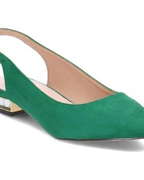 Zelené topánky Menbur
