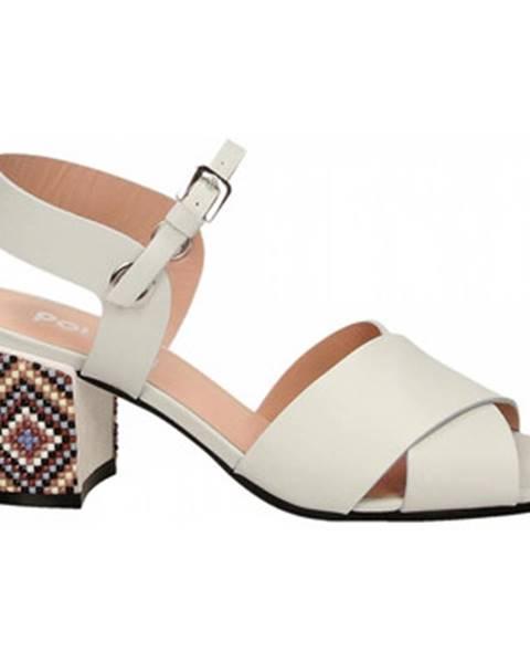 Biele topánky Studio Pollini