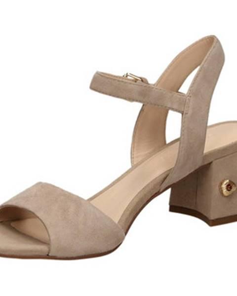 Hnedé topánky Elvio Zanon