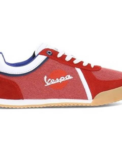 Červené tenisky Vespa
