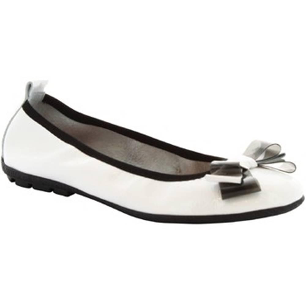 Leonardo Shoes Balerínky/Babies Leonardo Shoes  5618 F1/SOSIA NAPLAK BIANCO
