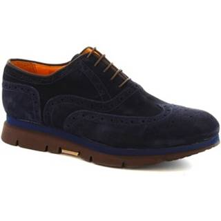 Derbie Leonardo Shoes  3863-6 PE CAMOSCIO BLU
