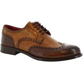 Derbie Leonardo Shoes  8634E19 TOM VITELLO DELAVE BRANDY