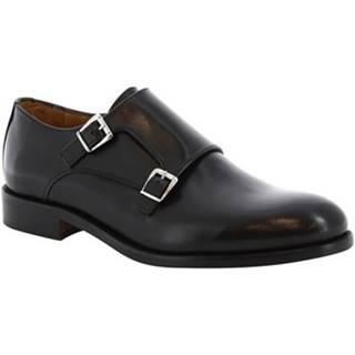 Mokasíny Leonardo Shoes  07674  NAIROBI NERO