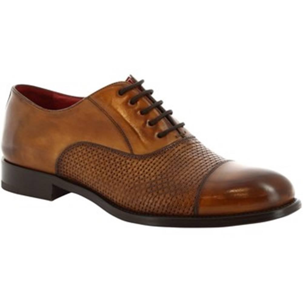 Leonardo Shoes Derbie Leonardo Shoes  8616E19 TOM VITELLO DELAVE SIENA