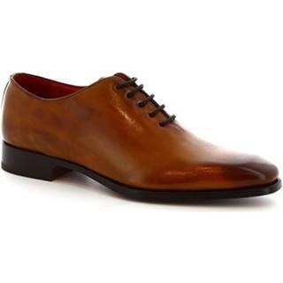 Derbie Leonardo Shoes  8728E19 VITELLO  DELAVE SIENA
