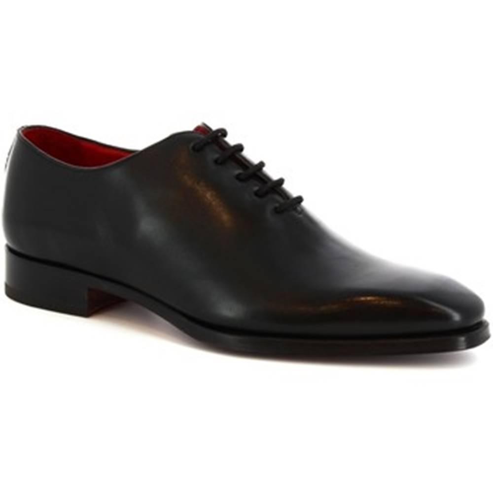 Leonardo Shoes Derbie  8728E19 VITELLO NERO