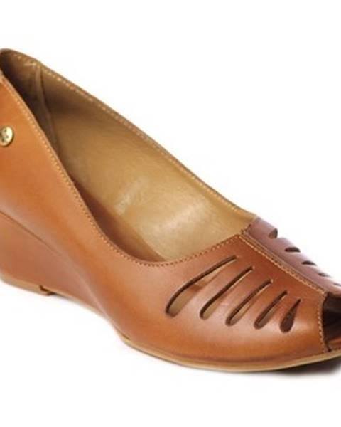 Hnedé topánky Maciejka