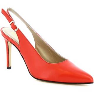 Lodičky Leonardo Shoes  306 NAPPA ROSSETTO