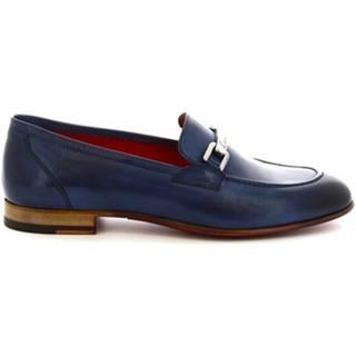 Mokasíny Leonardo Shoes  7841 TOM CAPRI AV AZZURRO