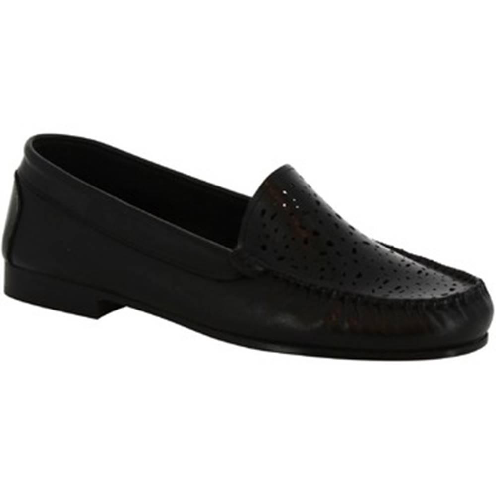 Leonardo Shoes Mokasíny Leonardo Shoes  5026 VITELLO NERO