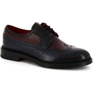 Derbie Leonardo Shoes  07271 MONTECARLO DELAVé BLU BORDEAUX