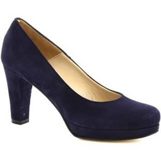 Lodičky Leonardo Shoes  209 CAMOSCIO DARK NAVY