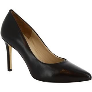 Lodičky Leonardo Shoes  310 NAPPA NERO