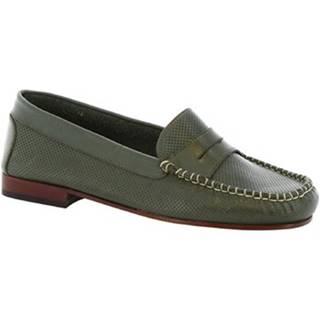 Mokasíny Leonardo Shoes  2591 VITELLO VERDE